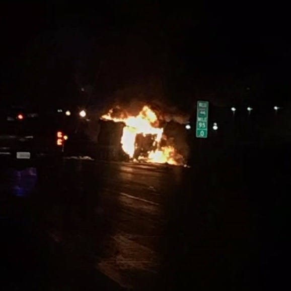 Webster County cow hit by 4 different vehicles in fiery crash