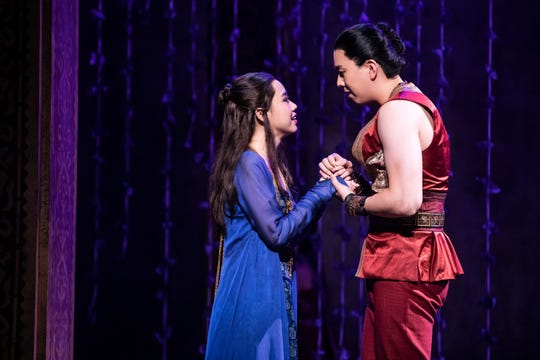 Paulina Yeung as Tuptim and Dongwoo Kang as Lun Tha in Rodgers & Hammerstein's 'The King and I.""