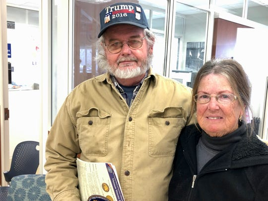 Vietnam veteran Phil Wipperman poses with his wife Marie Wipperman at the Staunton Community Based Outpatient Clinic on March 29, 2019.