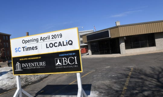 The new St. Cloud Times building at 24 Eighth Ave. S is pictured Friday, March 29, in St. Cloud.