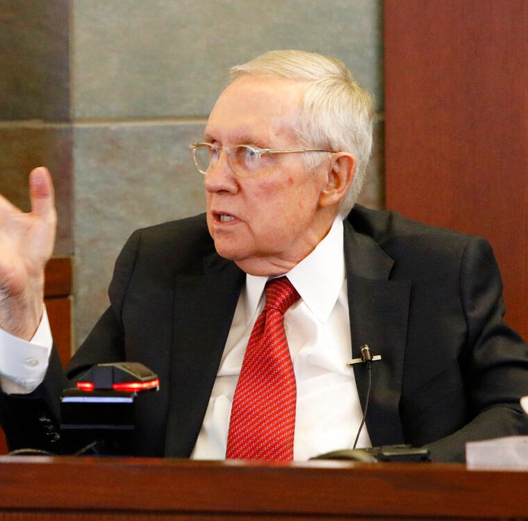 Harry Reid testifies exercise device injury cost him Senate