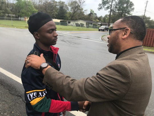 Daniel Anderson, 18, is one of the newest members of the city's TEMPO program aimed at getting youth who are out of work and unemployed connected with resources. Anderson speaks with the program's director Kimbal Thomas.