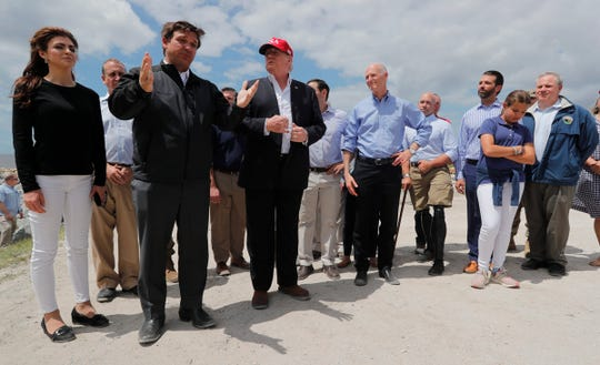 President Donald J.Trump visited a portion of the southeast shore of Lake Okeechobee on Friday, March 29, 2019. He discussed infrastructure improvements and environmental concerns faced by Floridians. Florida Gov. Ron DeSantis, Senators Marco Rubio and Rick Scott were also among the representatives participating in the tour.