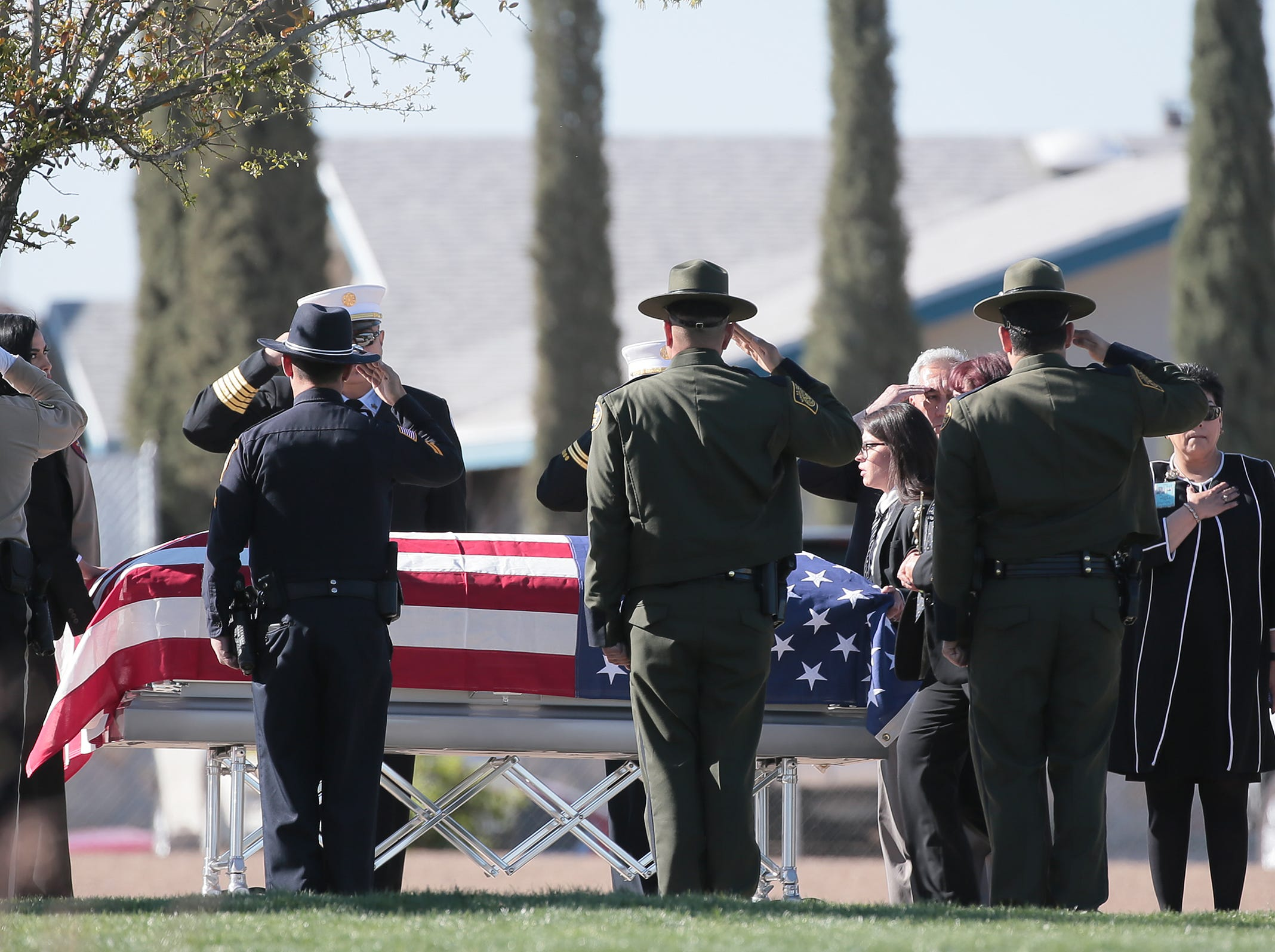 Funeral services were held Friday, March 29, 2019, for El Paso County Sheriff's Deputy Peter Herrera, who was fatally shot during a traffic stop.