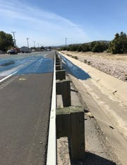 A hazardous-materials team was called to the scene of an apparent sewage spill on Highway 126 near Santa Paula on Friday afternoon. A truck was reported to have leaked several hundred gallons of sewage.
