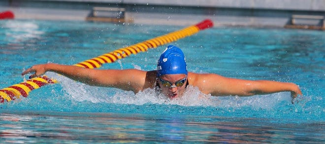 Ventura High sophomore Grace Endaya is a transfer from Sierra Canyon who won two titles at the county swimming meet last week.
