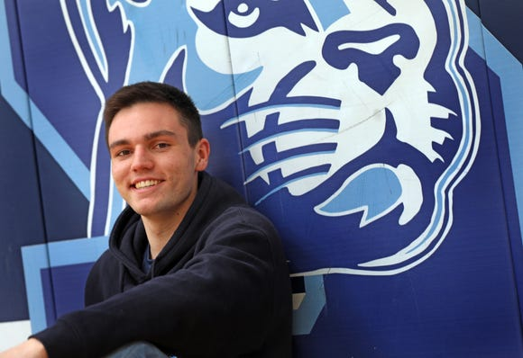 Will Krebs, who is Rockland Player of the Year was photographed at Suffern High School on March 28, 2019. Krebs ended his career as Suffern's all-time leading scorer and was named as one of the top six players in Section 1 at year's end.