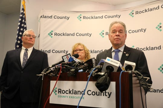 Rockland County Executive Ed Day gives an update on the county's measles state of emergency, Friday, March 29, 2019.