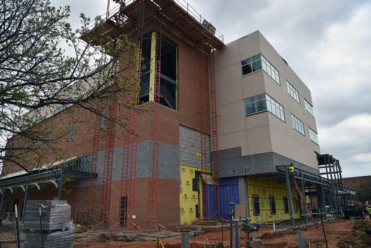Construction on the $34 million Gunn College of Health Sciences at Midwestern State University is on schedule and should be ready for Fall classes in Nursing, Respiratory Care, Dental, Social Worl and Radiology.