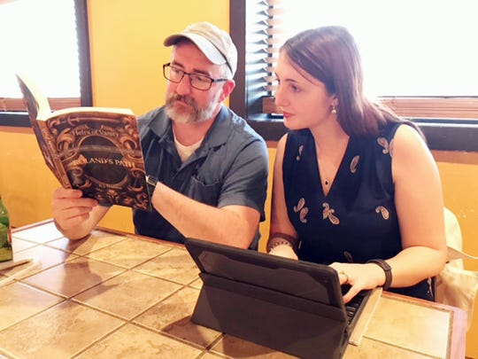 """Lt. Randy Hanson of the Bowie Police Department is more well-known for his investigative activities, but with those words above he launches a writing career that begins with """"Roland's Path,"""" an epic fantasy story that published this month."""