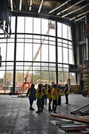 Members of the Health Sciences faculty got a tour of the Gunn College of Health Sciences at Midwestern State University under construction on the Northwest corner of the campus. The building will be ready for Fall classes.