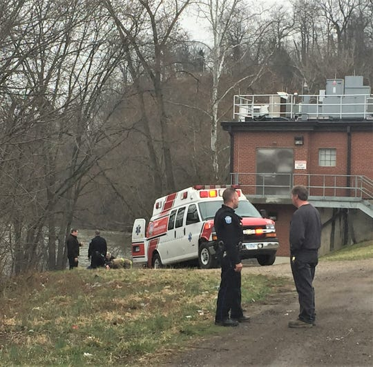 A woman suffered back injuries after jumping from the Y Bridge Friday morning.