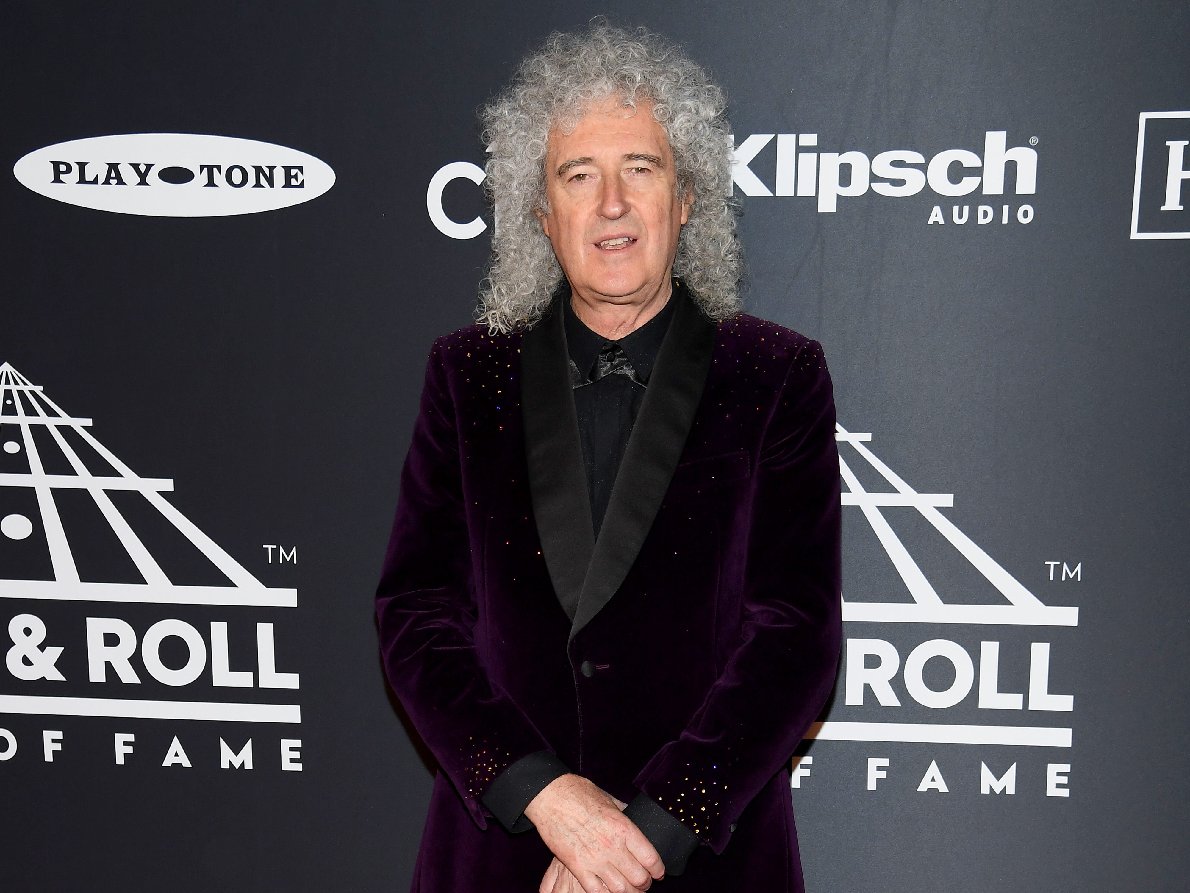 NEW YORK, NEW YORK - MARCH 29: Brian May attends the 2019 Rock & Roll Hall Of Fame Induction Ceremony at Barclays Center on March 29, 2019 in New York City. (Photo by Dimitrios Kambouris/Getty Images For The Rock and Roll Hall of Fame) ORG XMIT: 775320639 ORIG FILE ID: 1139163426