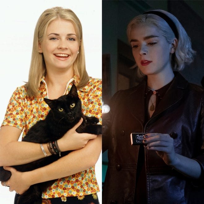 "Melissa Joan Hart starred as ""Sabrina the Teenage Witch"" from 1996-2003, and Kiernan Shipka stars in ""Chilling Adventures of Sabrina"" now."