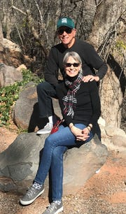Joy Loverde and David Schultz in Sedona, Arizona.