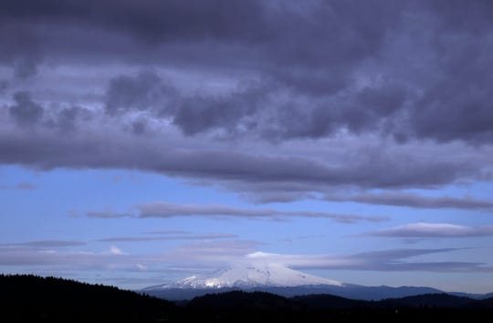 Oregon's Mount Hood seen from Portland, Ore., Tuesday, Nov. 22, 2016.