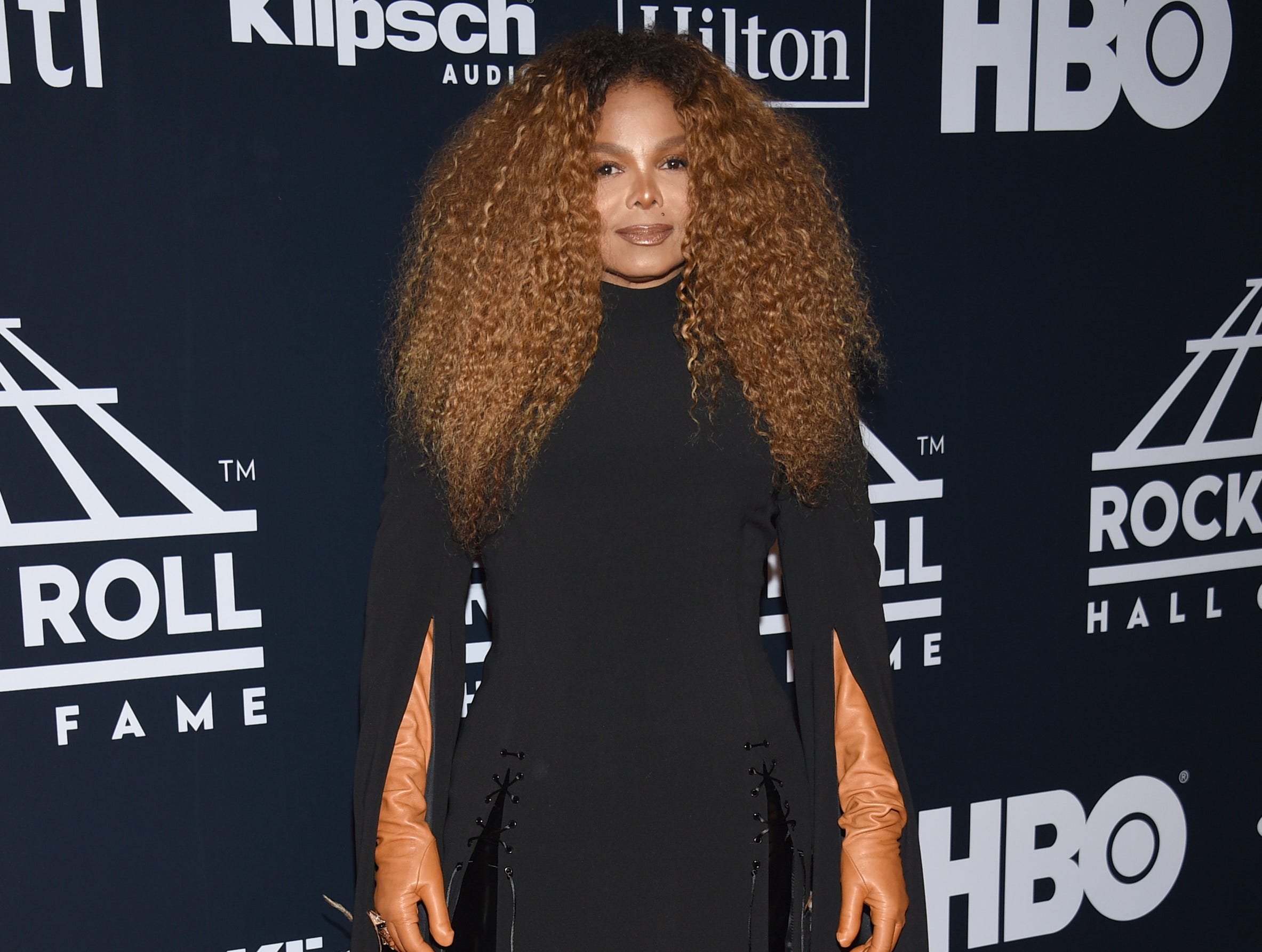 Janet Jackson arrives at the Rock & Roll Hall of Fame induction ceremony at the Barclays Center on Friday, March 29, 2019, in New York. (Photo by Evan Agostini/Invision/AP) ORG XMIT: NYPM131