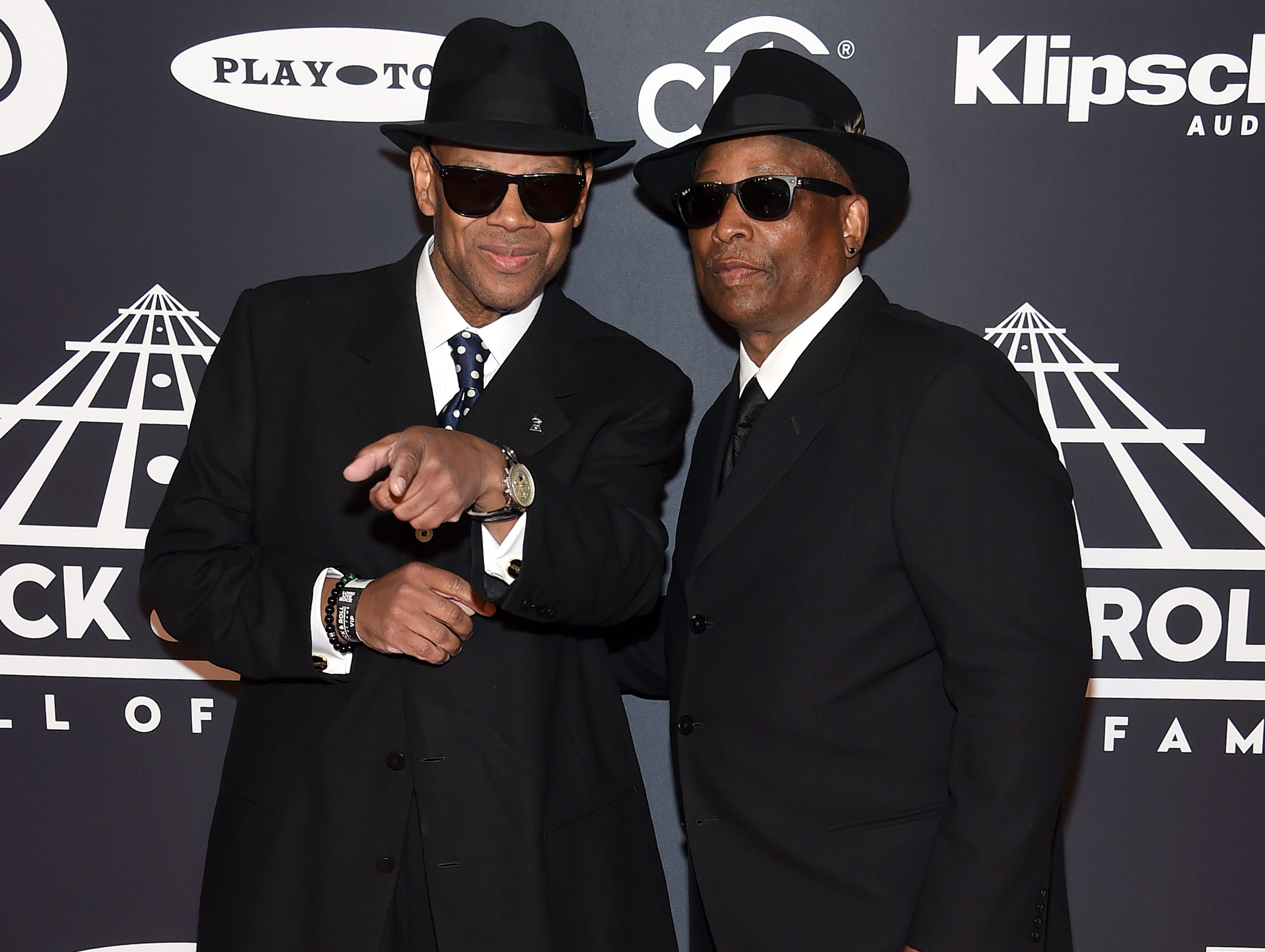 NEW YORK, NEW YORK - MARCH 29: (L-R) Jimmy Jam and Terry Lewis attend the 2019 Rock & Roll Hall Of Fame Induction Ceremony at Barclays Center on March 29, 2019 in New York City. (Photo by Jamie McCarthy/WireImage) ORG XMIT: 775320639 ORIG FILE ID: 1139160312