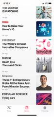 The Apple News+ view on an iPhone.