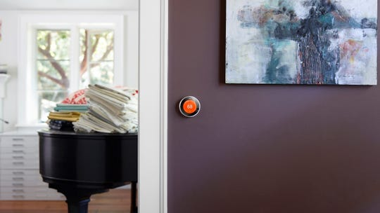 A Nest Leaf appears on Nest thermostats when you choose a temperature that saves energy.