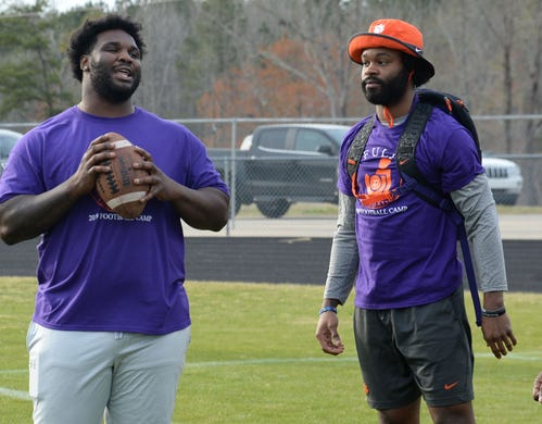 C.J. Fuller Foundation football camp with former Clemson ...