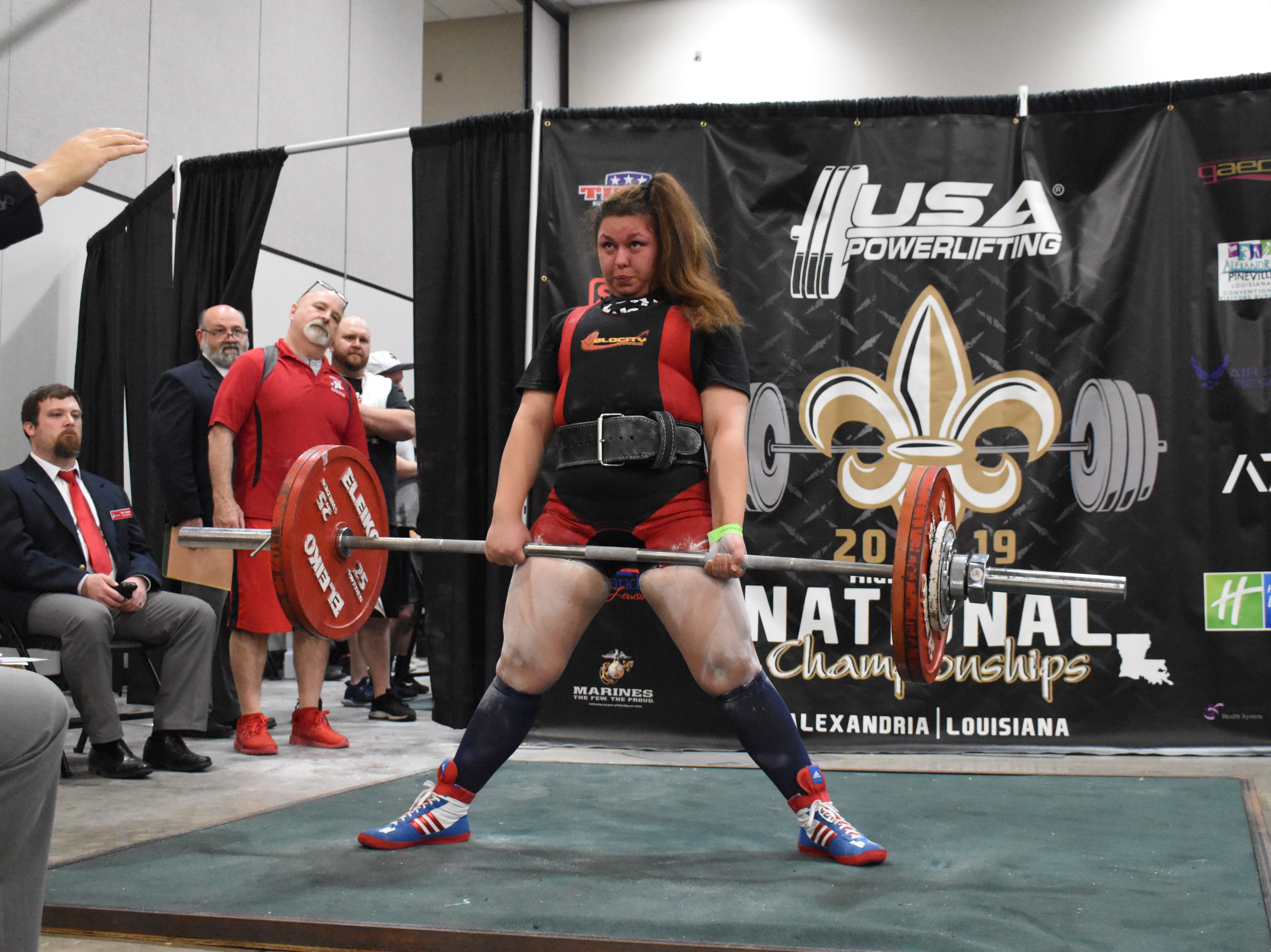 The USA Powerlifting High School National Championships, equipped and raw, are being held at the Randolph Riverfront Center in downtown Alexandria with high school powerlifters from across the country competing in the four-day event. Powerlifters from local schools are also competing.
