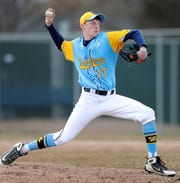 St. Mary Catholic pitcher Chris Seveska delivers against Little Chute on March 29.
