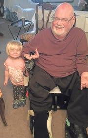 John Seccafico with grandaughter Claire last year.