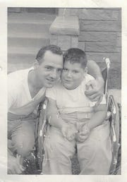 An undated photo of young John Seccafico (right) with his dad Jim.