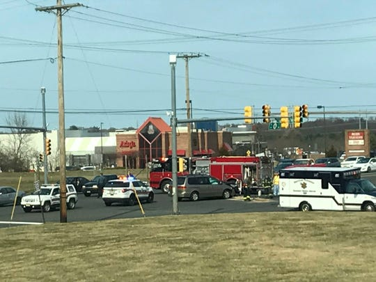 A crash on Route 66 and Jumping Brook Road in Neptune Saturday is causing delays.