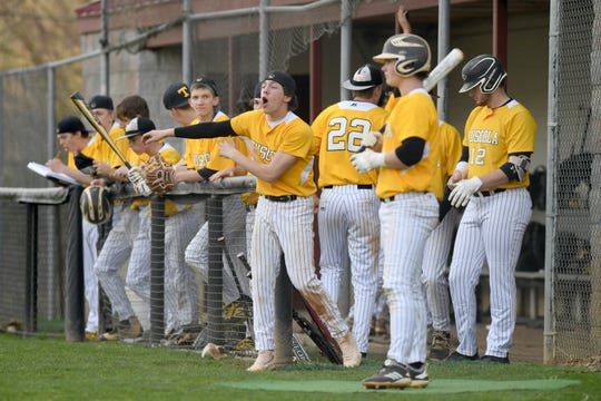 Asheville High School hosted Tuscola on March 29, 2019. The Cougars defeated the Mountaineers 5-4.