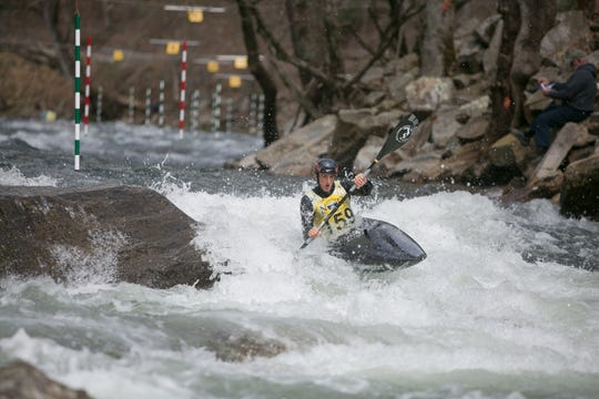 Michal Smolen, a 2016 Rio de Janeiro Olympian, won the K-1 class at the NRC Whitewater U.S. Open on the Nantahala River on March 30, 2019. The weekend-long competition was held at Nantahala Falls, just upriver from the Nantahala Outdoor Center near Bryson City.