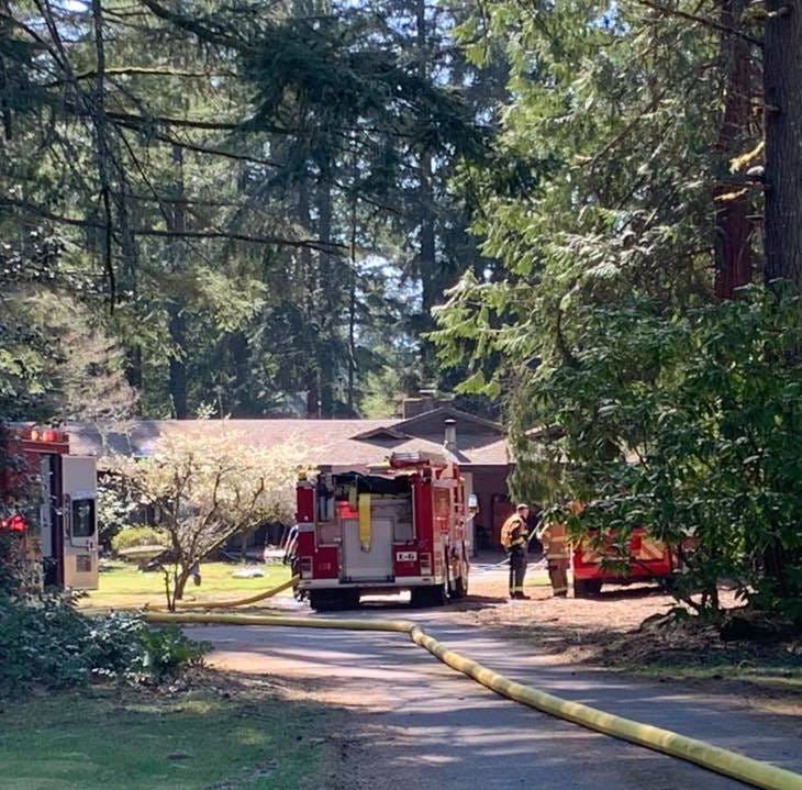 One injured in South Kitsap house fire