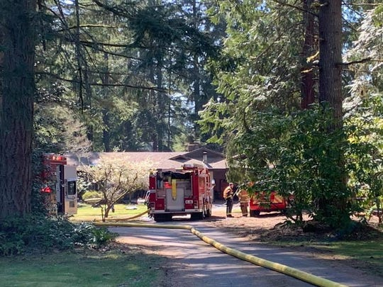 A fire at a house on Lund Avenue in Port Orchard resulted in a one person being airlifted to Harborview Medical Center in Seattle.
