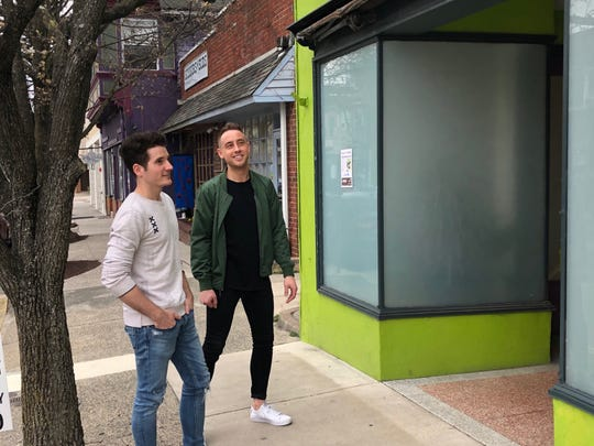 Eric Hillegass (left) and Patrick Bartscherer look forward to a summer opening for Bespoke Home + Life on Haddon Avenue. The store will occupy the former Yogawood space.