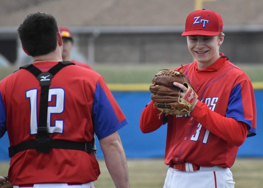 ZT baseball's Kody Haubeil is the male athlete of the week as he pitched aone-hit shutout complete game in a 10-0 win over Washington on Friday.