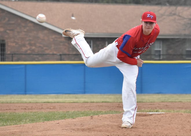 Zane Trace baseball's Kody Haubeil is an athlete of the week nominee as he pitched a one-hit shutout complete game in a 10-0 win over Washington on Friday.