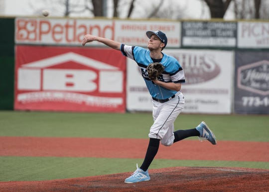 Adena baseball's Ethan Kunkel is nominated for the Gazette's Athlete of the Week poll as he was the winning pitcher, throwing a complete game, not allowing an earned run, and he struck out 10 batters in a 7-2 win over Piketon.
