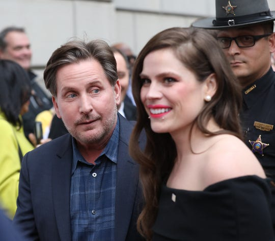 "Pictured is Emilio Estevez (writer/director) of  ""The Public"" at the Red Carpet at the Premiere at the Taft Theatre on Friday, March 29, 2019."