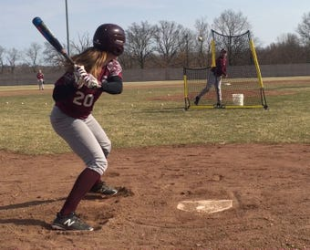 Tiffany Fischer is a member of the South River High School baseball program