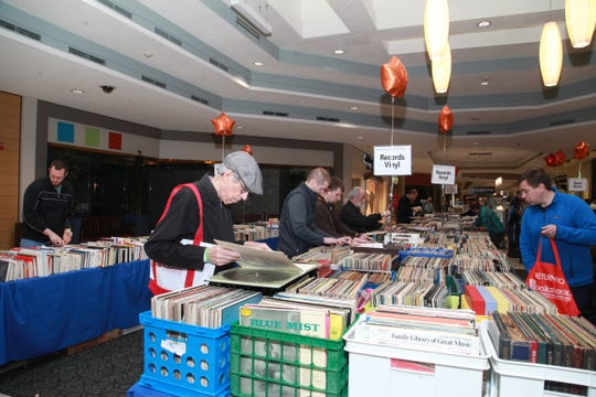 Bookstock offers a large selection of vintage vinyl as well as books.