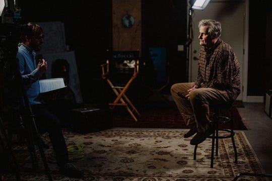 Director Joshua Riehl interviews actor Jeff Daniels at his Chelsea Studio.