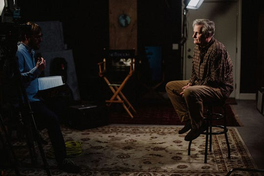 Director Joshua Riehl interviews actor Jeff Daniels at his Chelsea Studio.