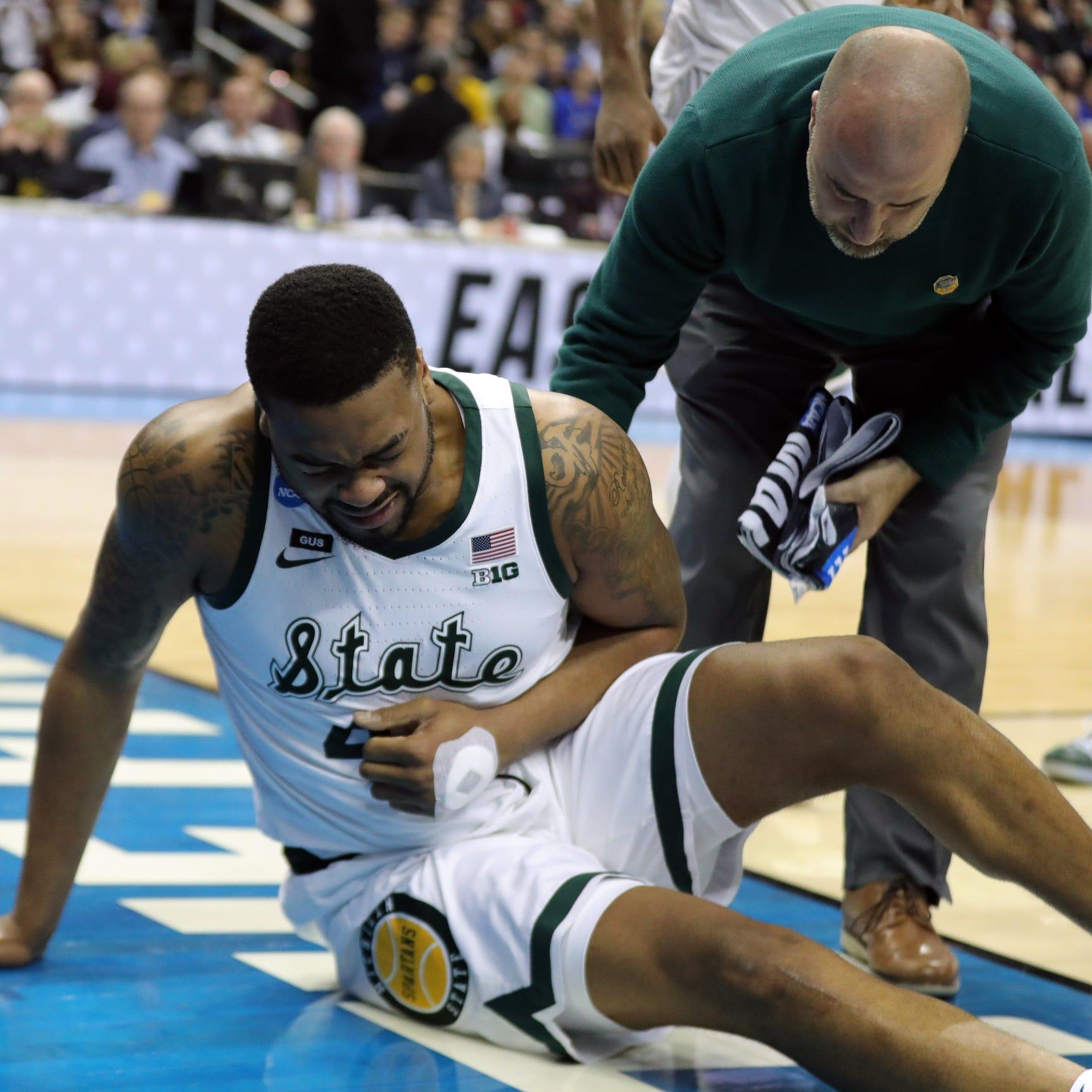 Michigan State's Nick Ward says left hand won't keep him out vs. Duke