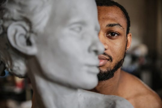 Austen Brantley tackles themes of identity and race in his work, which combine classical influences with a contemporary vision. It's something he has examined in his own life as a young African-American man shaped by his early years in Europe and his return to the United States.