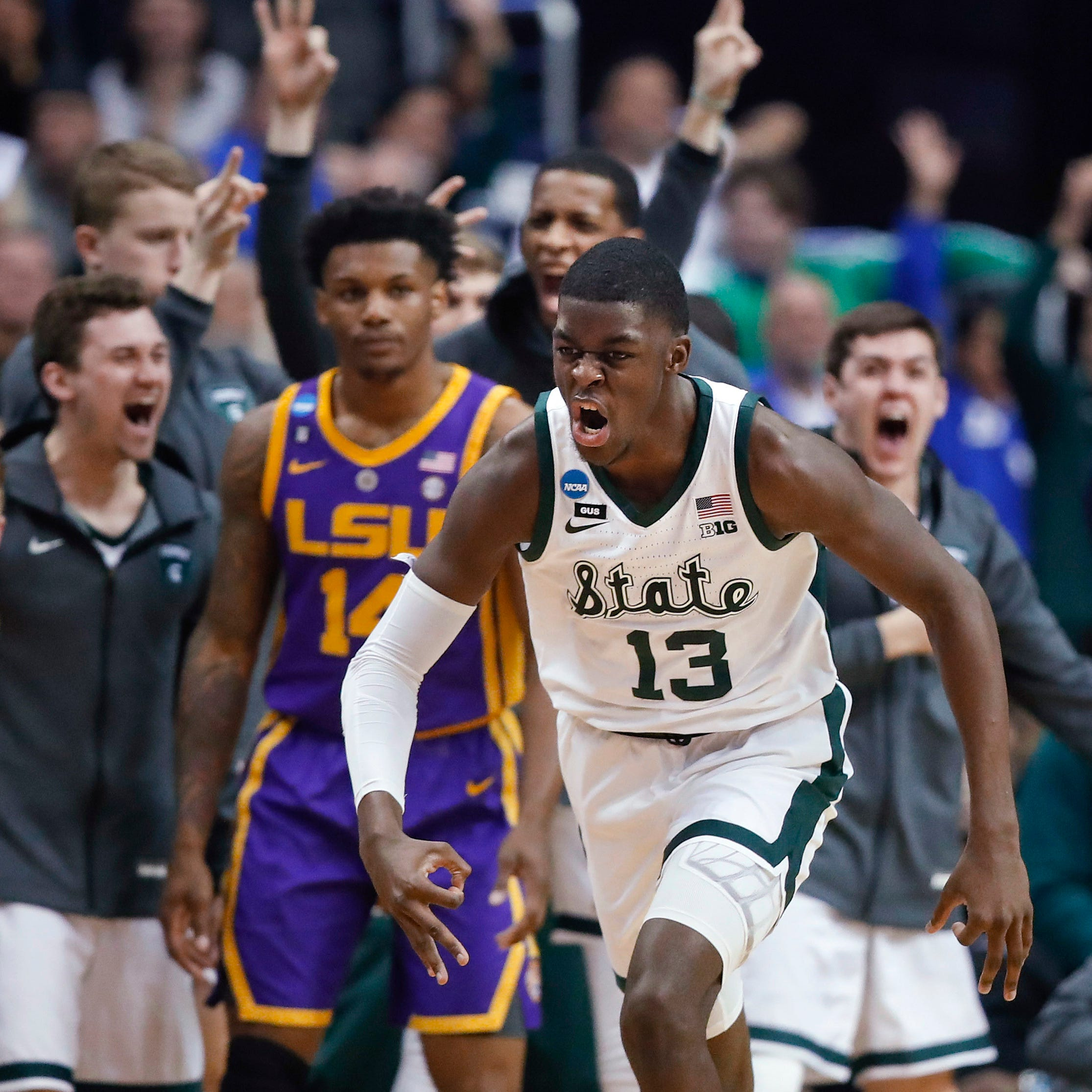 Fresh spin: Career nights from Henry, Brown help carry Michigan State into Elite Eight
