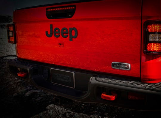 A special 2020 Jeep Gladiator Launch Edition gets a speical stamped tailgate signifying that the truck is one of 4190. The number honors the Toledo area code (419) where the Gladiator is built.