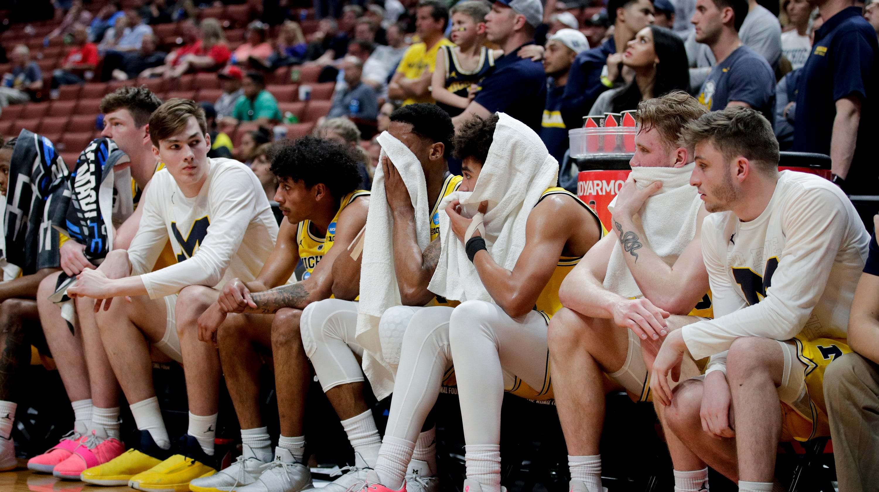 5261e1efbbc Michigan players take solace in achievements, not final result