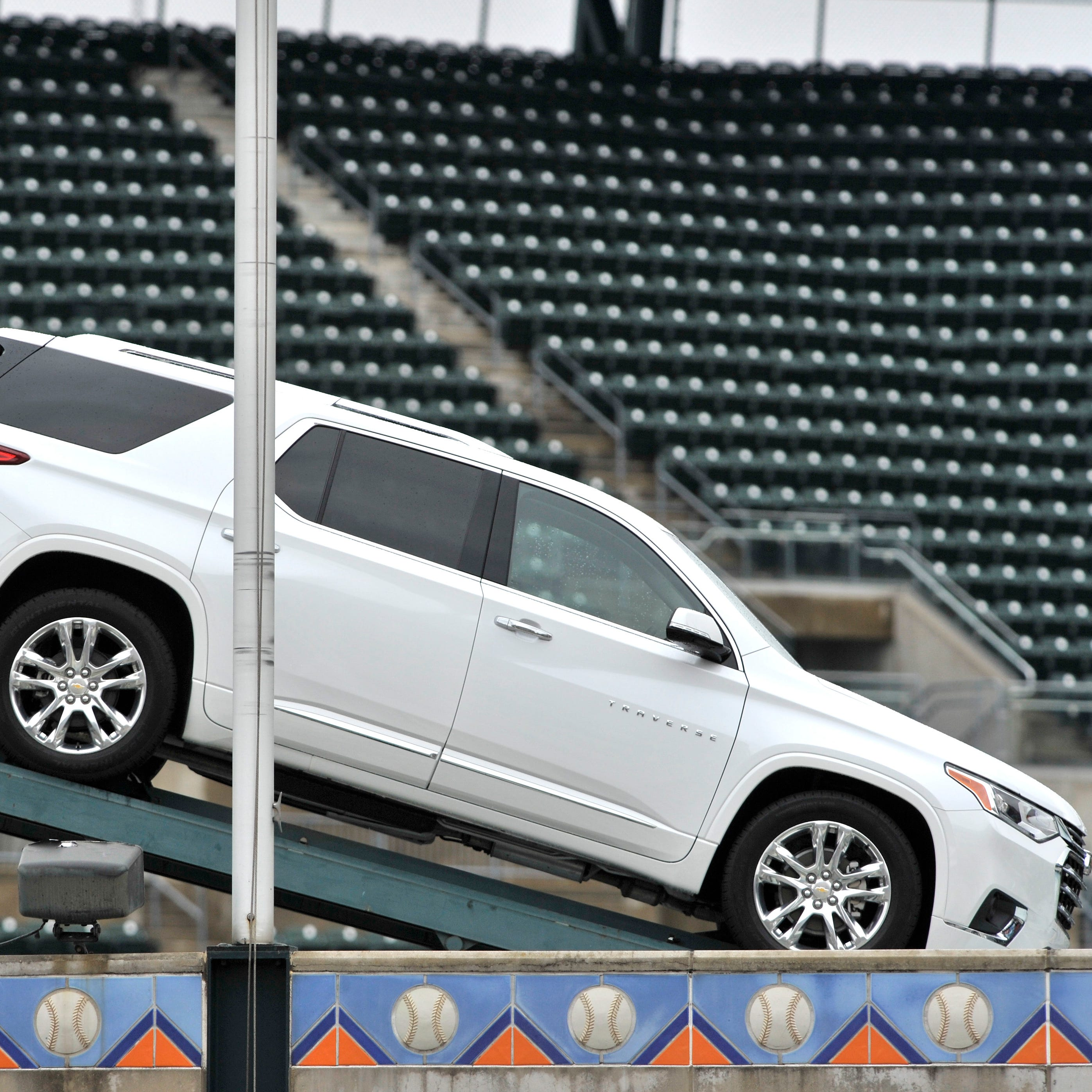 Mexico-built Chevy Blazer removed from Comerica Park display to avoid 'distractions'