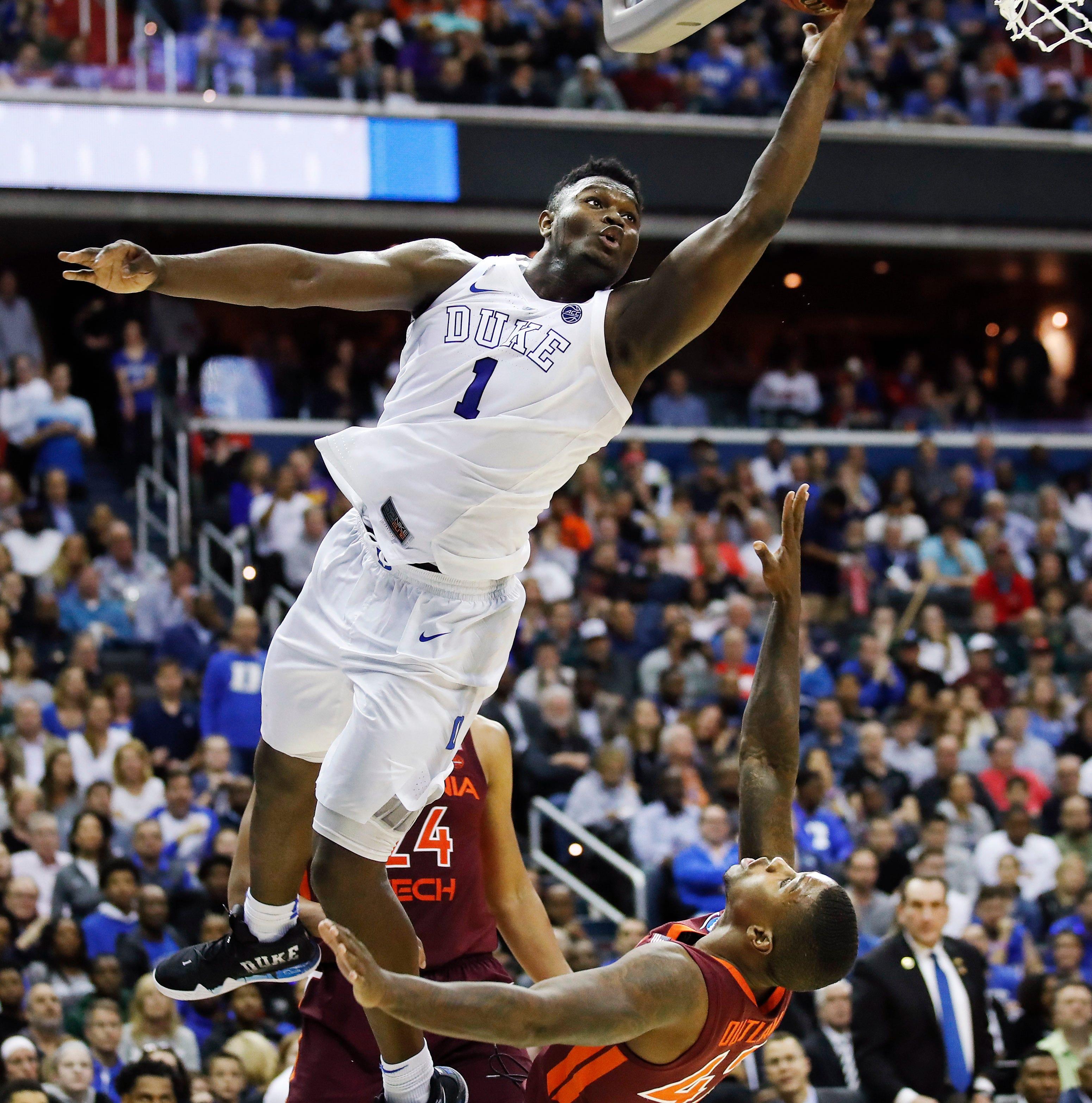 Duke avoids upset to edge Virginia Tech 75-73; Michigan State next up
